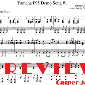 Mighty Groove | Yamaha P95 grand piano 1 first demo song sheet music preview