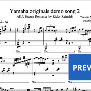 BrazenRomance | Yamaha originals demo song 2 sheet music preview