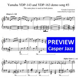 Yamaha YDP-143 and YDP-163 demo song 3 - sheet music preview