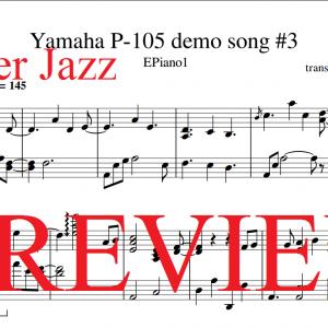 Ricky Reinaldi Broken Catalyst sheet music | Yamaha P-105 demo song 3 preview
