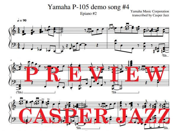 Yamaha P-105 demo song 4 preview image