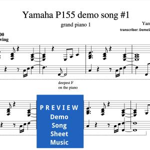 Yamaha P-155 demo song sheet music